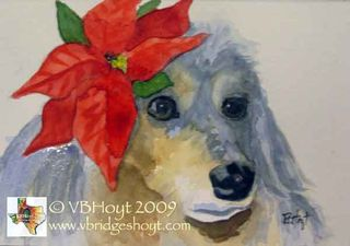 9052-dog-doxie-ChristmasBlu
