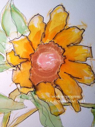 SunflowerSketch_WIP_wc_12x16_VBHoytWEB2