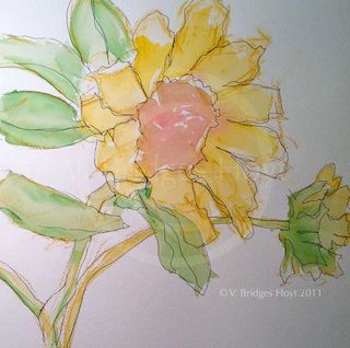 SunflowerSketch_mix_12x16_VHoytWEB